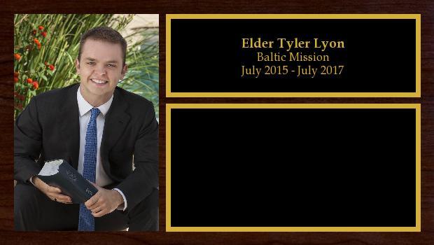 July 2015 to July 2017<br/>Elder Tyler Lyon