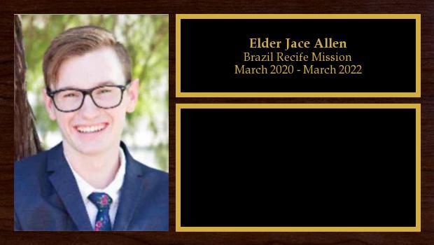 March 2020 to March 2022<br/>Elder Jace Allen
