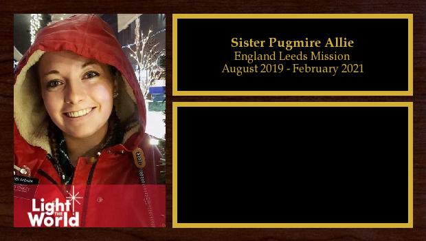 August 2019 to February 2021<br/>Sister Pugmire Allie
