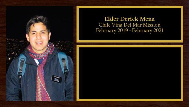 February 2019 to February 2021<br/>Elder Derick Mena
