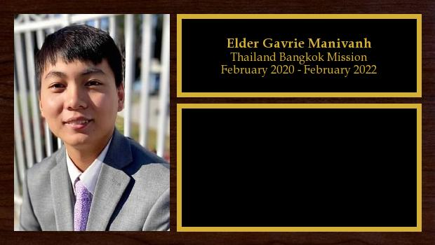February 2020 to February 2022<br/>Elder Gavrie Manivanh