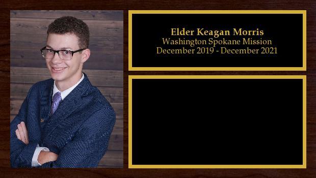 December 2019 to December 2021<br/>Elder Keagan Morris