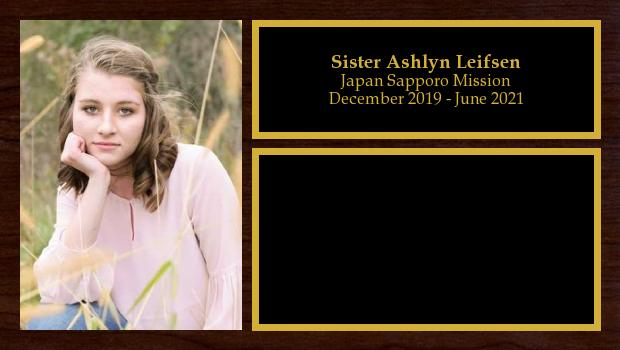 December 2019 to June 2021<br/>Sister Ashlyn Leifsen