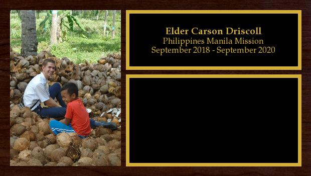 September 2018 to September 2020<br/>Elder Carson Driscoll