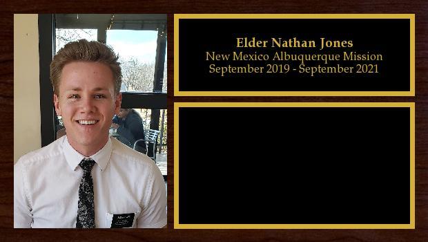 September 2019 to September 2021<br/>Elder Nathan Jones
