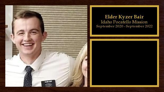 September 2020 to September 2022<br/>Elder Kyzer Bair