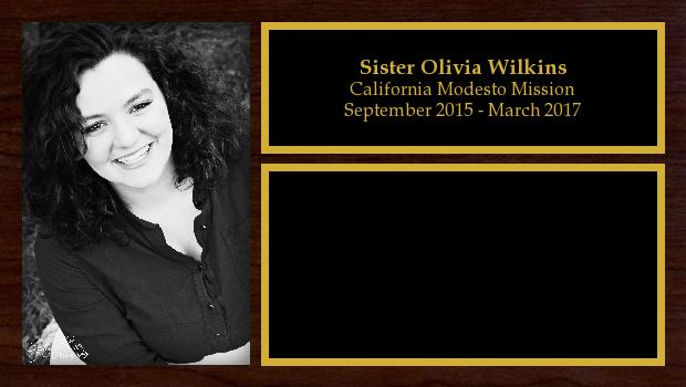 September 2015 to March 2017<br/>Sister Olivia Wilkins
