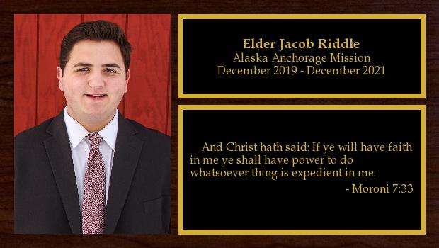 December 2019 to December 2021<br/>Elder Jacob Riddle