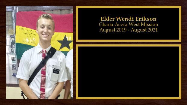 August 2019 to August 2021<br/>Elder Ryan Erikson