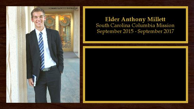 September 2015 to September 2017<br/>Elder Anthony Millett