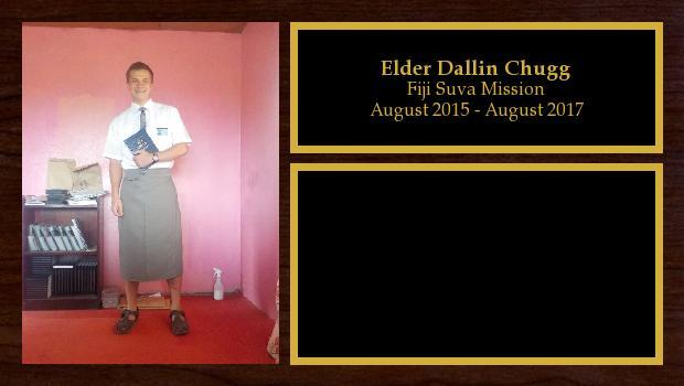 August 2015 to August 2017<br/>Elder Dallin Chugg