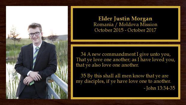 October 2015 to October 2017<br/>Elder Justin Morgan