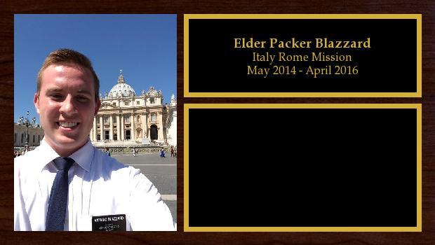 May 2014 to April 2016<br/>Elder Packer Blazzard