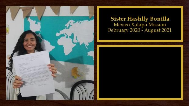 February 2020 to August 2021<br/>Sister Hashlly Bonilla