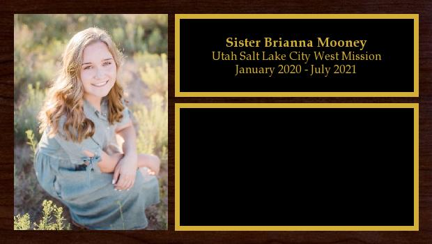 January 2020 to July 2021<br/>Sister Brianna Mooney