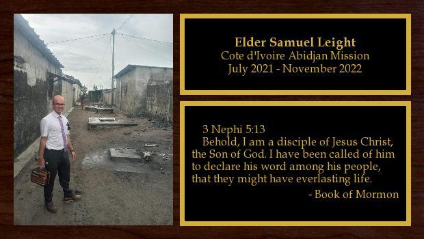 September 2019 to September 2021<br/>Elder Samuel Leight