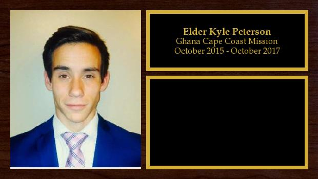 October 2015 to October 2017<br/>Elder Kyle Peterson