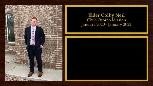 January 2020 to January 2022<br/>Elder Colby Neil