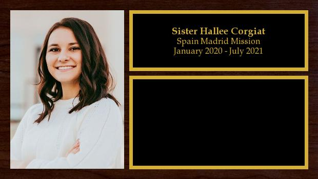 January 2020 to July 2021<br/>Sister Hallee Corgiat