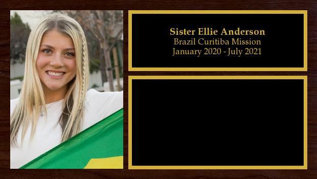 January 2020 to July 2021<br/>Sister Ellie Anderson