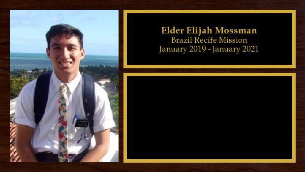 January 2019 to March 2020<br/>Elder Elijah Mossman
