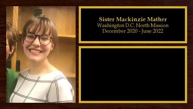 January 2020 to June 2022<br/>Sister Mackinzie Mather