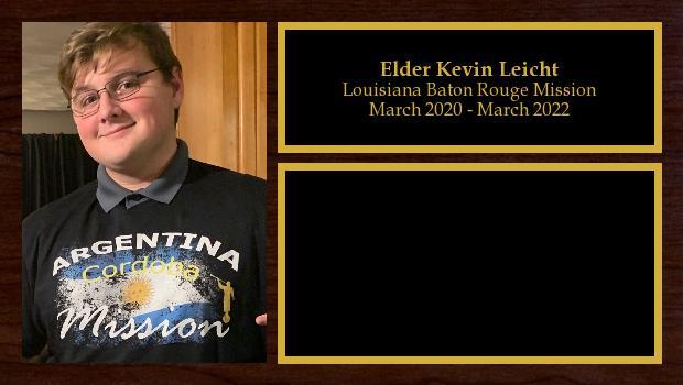 March 2020 to March 2022<br/>Elder Kevin Leicht