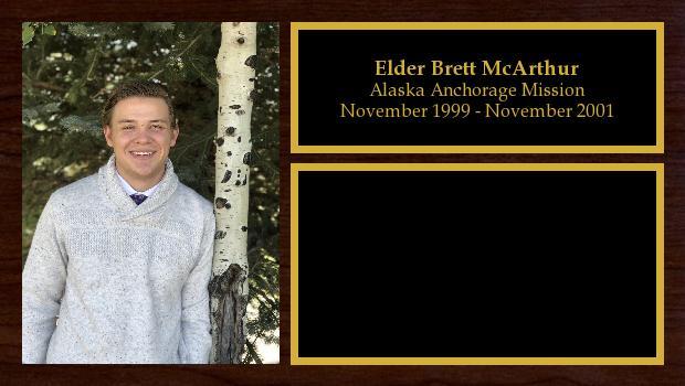 November 1999 to November 2001<br/>Elder Brett McArthur
