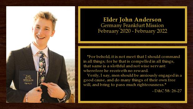 February 2020 to February 2022<br/>Elder John Anderson