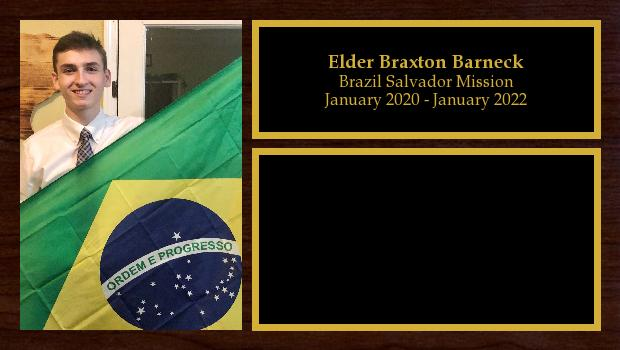 January 2020 to January 2022<br/>Elder Braxton Barneck