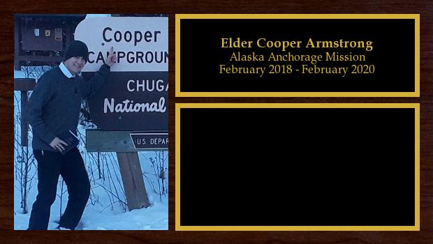 February 2018 to February 2020<br/>Elder Cooper Armstrong