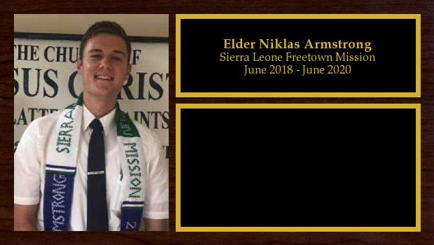 June 2018 to June 2020<br/>Elder Niklas Armstrong