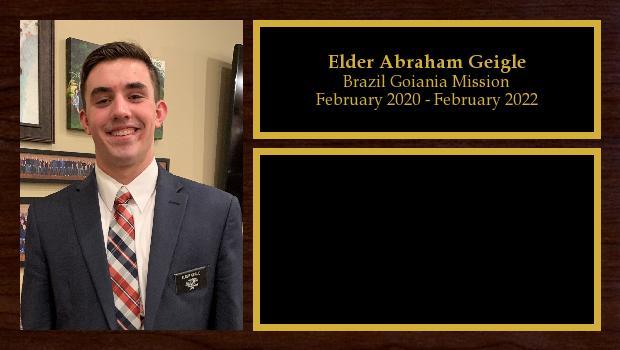 February 2020 to February 2022<br/>Elder Abraham Geigle
