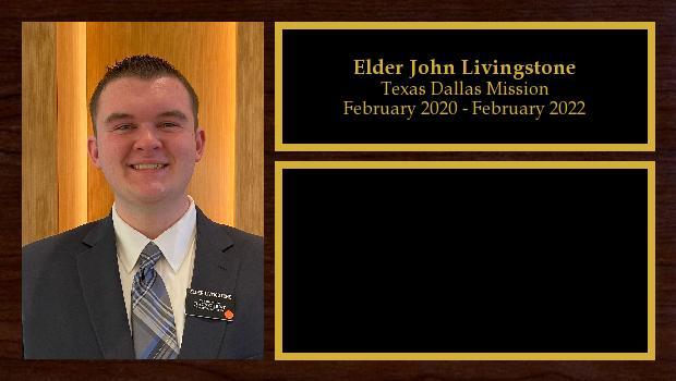 February 2020 to February 2022<br/>Elder John Livingstone