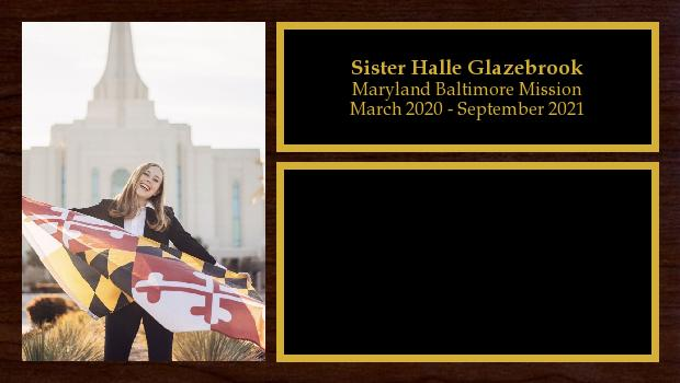 March 2020 to September 2021<br/>Sister Halle Glazebrook