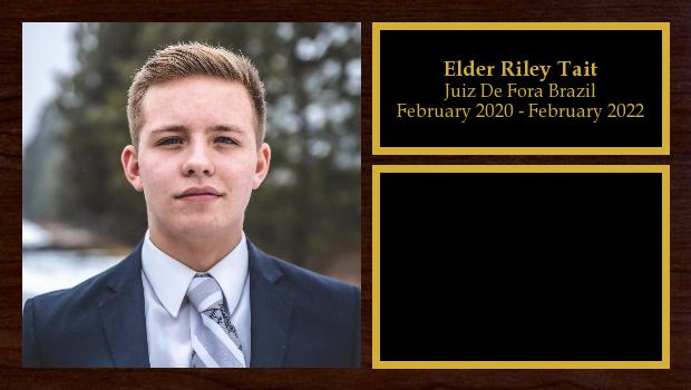 February 2020 to February 2022<br/>Elder Riley Tait