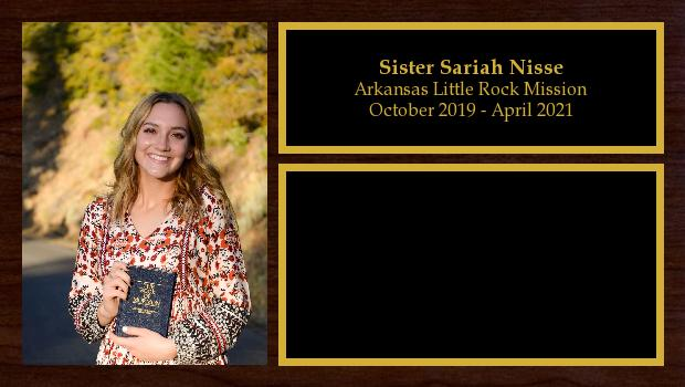 October 2019 to April 2021<br/>Sister Sariah Nisse