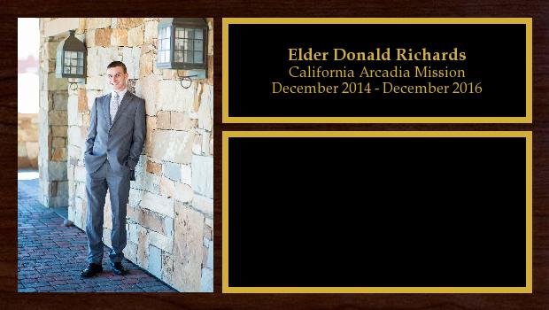 December 2014 to December 2016<br/>Elder Donald Richards