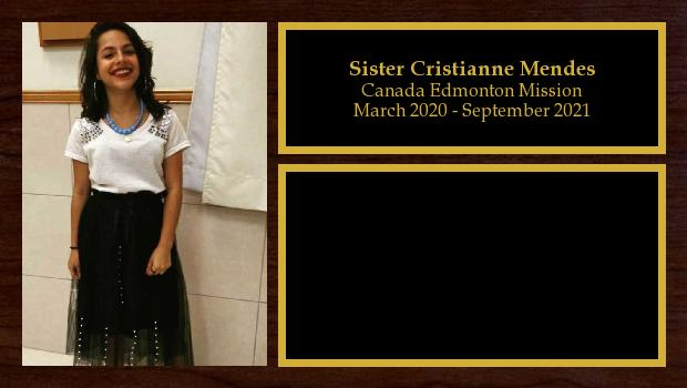March 2020 to September 2021<br/>Sister Cristianne Mendes
