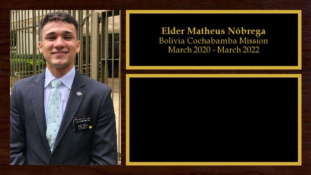 March 2020 to March 2022<br/>Elder Matheus Nóbrega