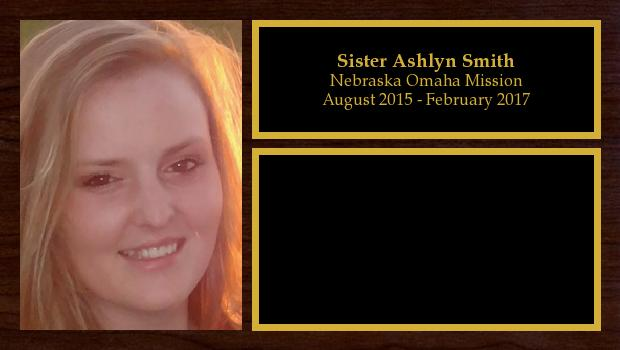 August 2015 to February 2017<br/>Sister Ashlyn Smith