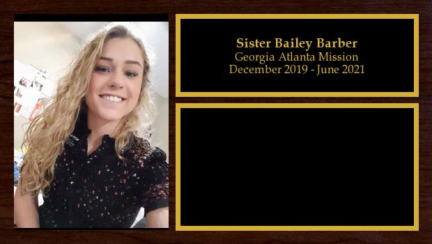 December 2019 to June 2021<br/>Sister Bailey Barber