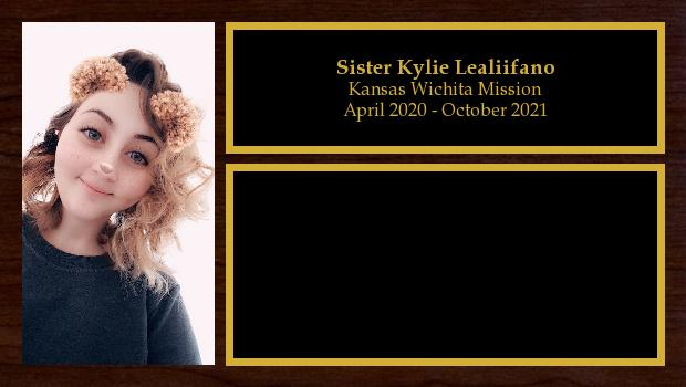 April 2020 to October 2021<br/>Sister Kylie Lealiifano