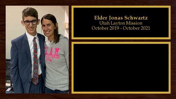 October 2019 to October 2021<br/>Elder Jonas Schwartz