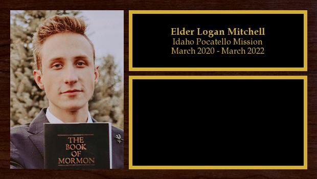 March 2020 to March 2022<br/>Elder Logan Mitchell