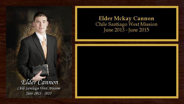 June 2013 to June 2015<br/>Elder Mckay Cannon