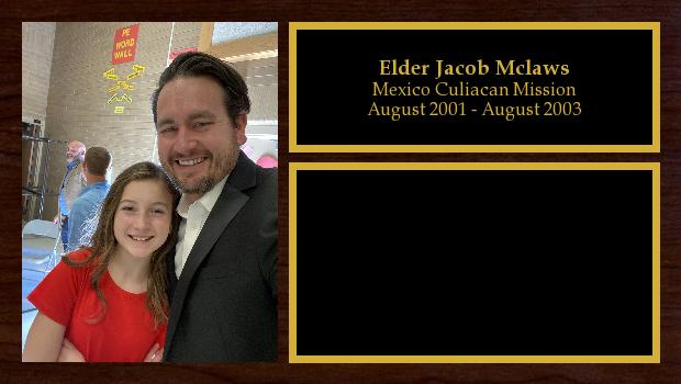 August 2001 to August 2003<br/>Elder Jacob Mclaws