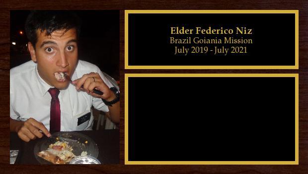 July 2019 to July 2021<br/>Elder Federico Niz