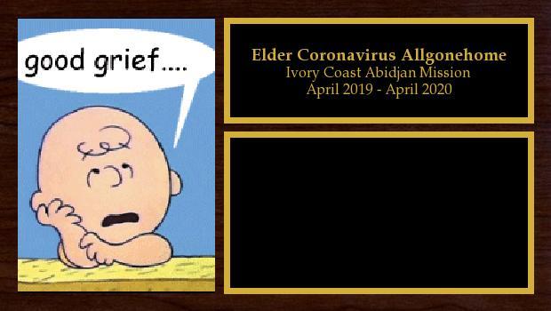 April 2019 to April 2020<br/>Elder Coronavirus Allgonehome