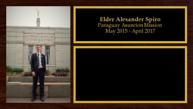 May 2015 to April 2017<br/>Elder Alexander Spiro